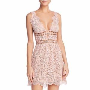 FOR LOVE & LEMONS Mon Cheri Lace Mini Dress (XS)
